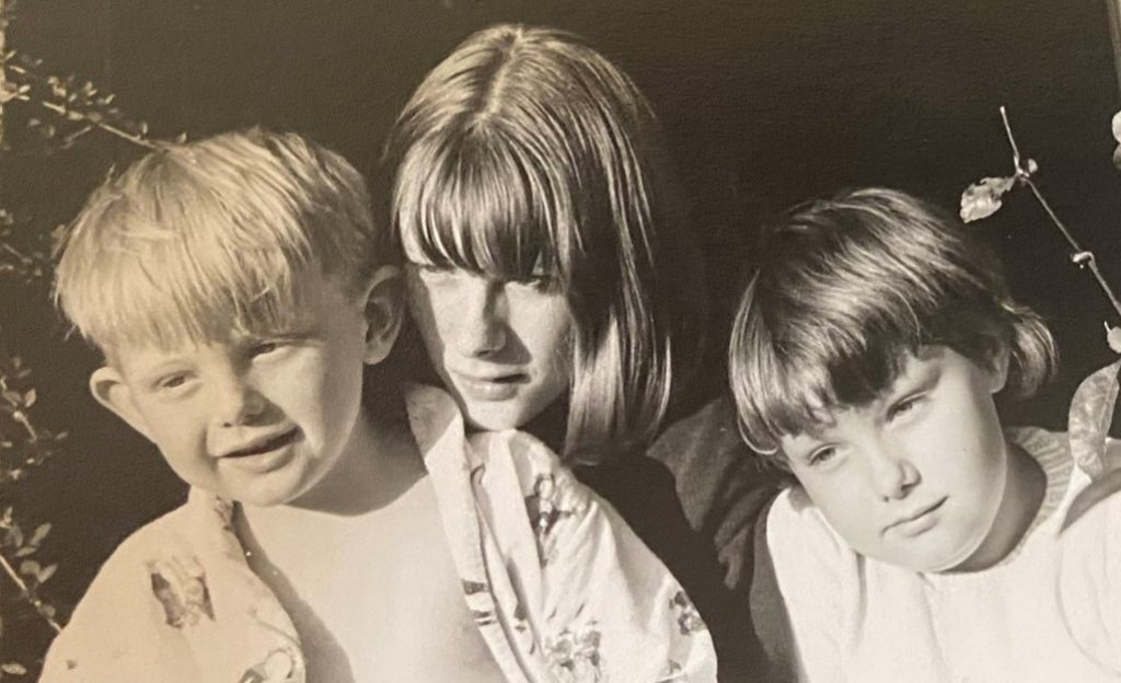 The children of Humphry Osmond and Jane Osmond: Julian, Helen, and Fee in the early 1960s