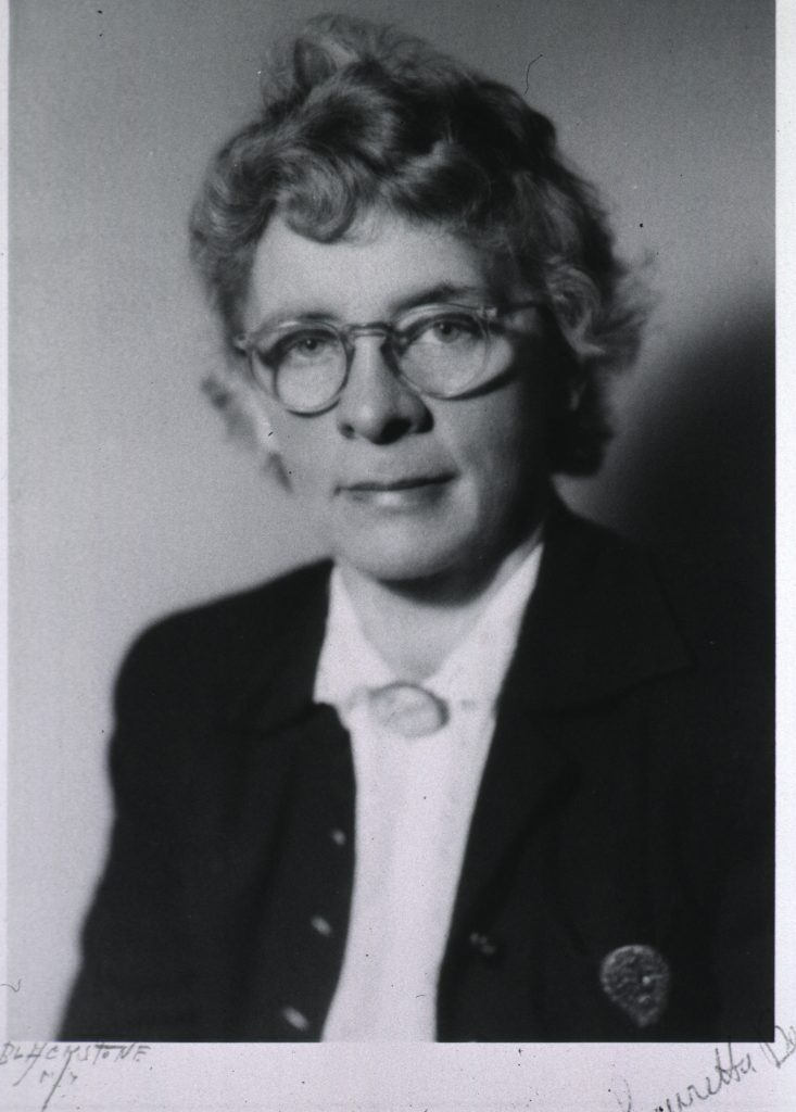 Lauretta Bender, a middle-aged white woman wearing glasses.